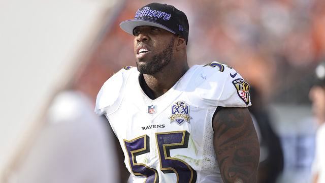 Baltimore Ravens linebacker Terrell Suggs