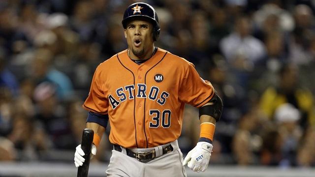 Astros center fielder Carlos Gomez