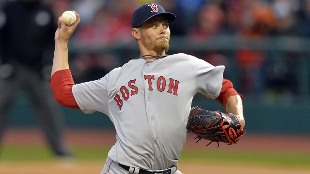Boston Red Sox starting pitcher Clay Buchholz