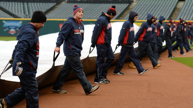 Cleveland Indians grounds crew