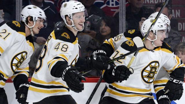 Boston Bruins forward Frank Vatrano