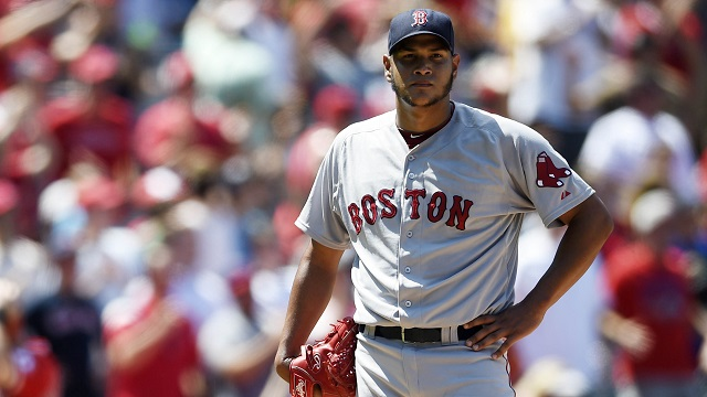 Boston Red Sox starting pitcher Eduardo Rodriguez