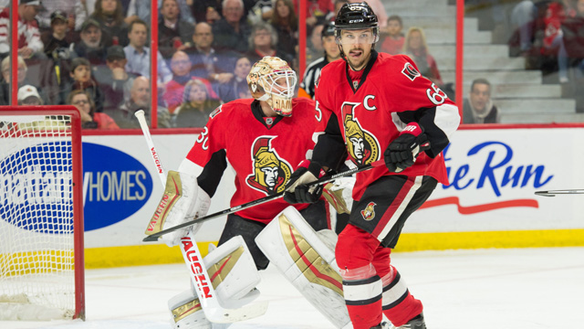 Senators defenseman Erik Karlsson
