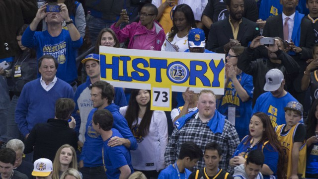 Golden State Warriors' 73 wins