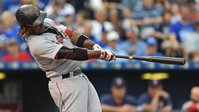 Red Sox left fielder Hanley Ramirez