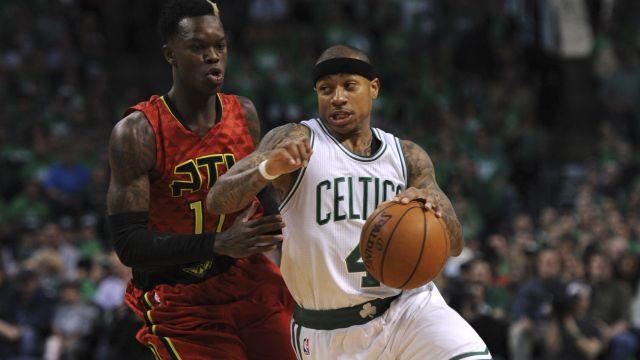 Celtics point guard Isaiah Thomas