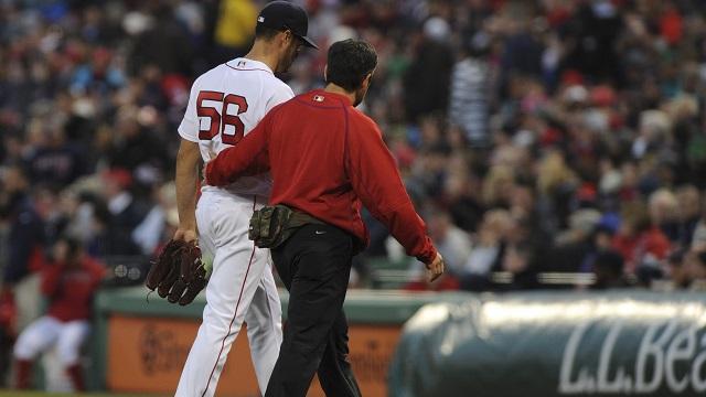 Boston Red Sox starting pitcher Joe Kelly