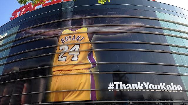 Kobe Bryant mural at Staples center
