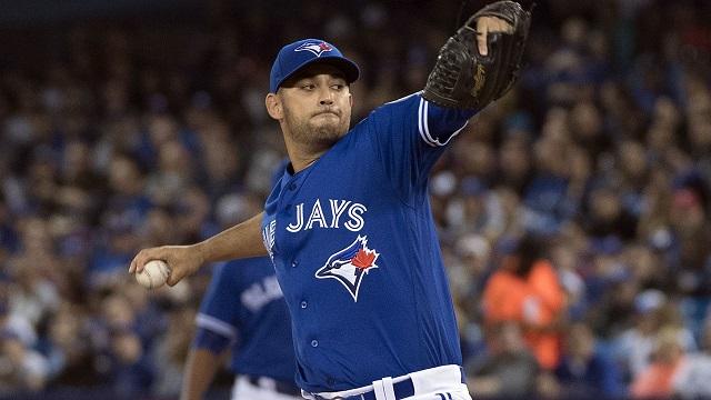 Toronto Blue Jays starting pitcher Marco Estrada