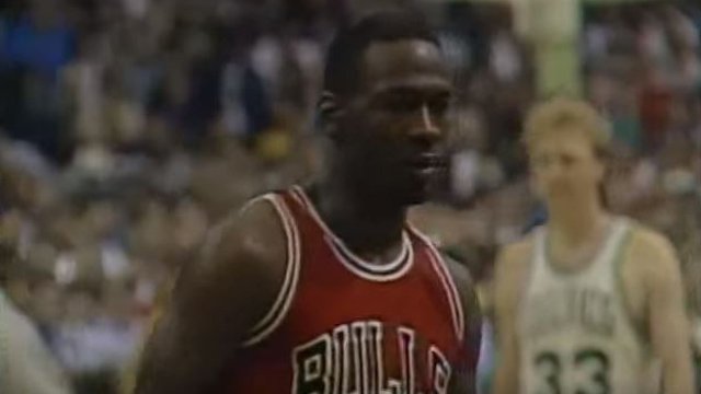 Michael Jordan in the 1986 playoffs