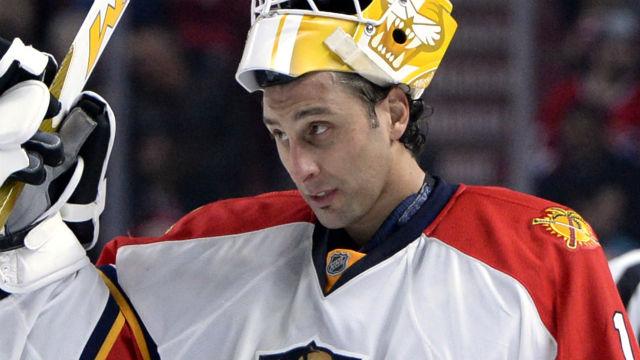 Florida Panthers goalie Roberto Luongo