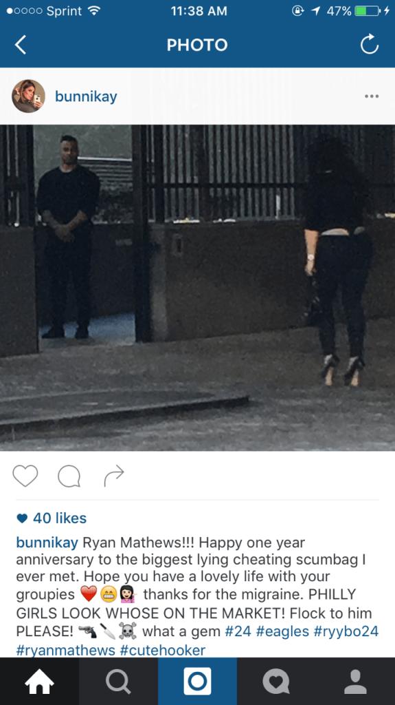 Ryan Mathews Girlfriend Catches Him Cheating, Posts It On