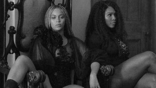 Singer Beyonce and tennis star Serena Williams