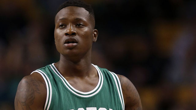 Celtics point guard Terry Rozier