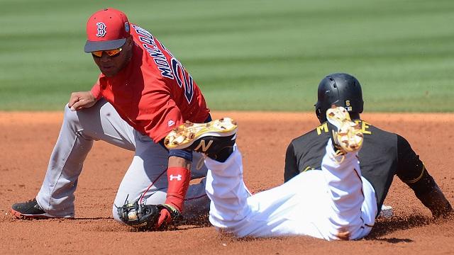 Boston Red Sox infielder Yoan Moncada