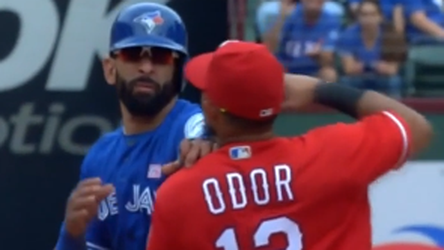 Rougned Odor, Jose Bautista fight in Rangers-Blue Jays game