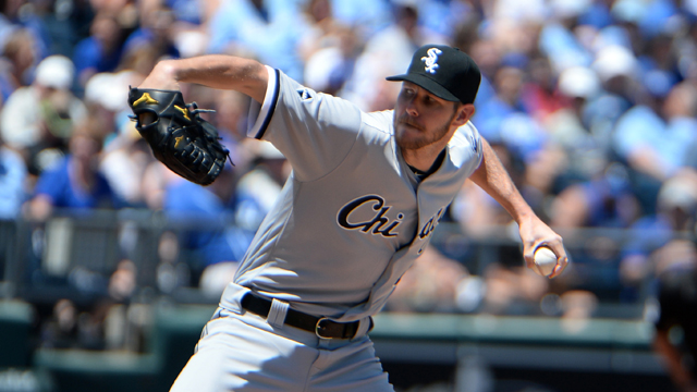 Chicago White Sox starting pitcher Chris Sale
