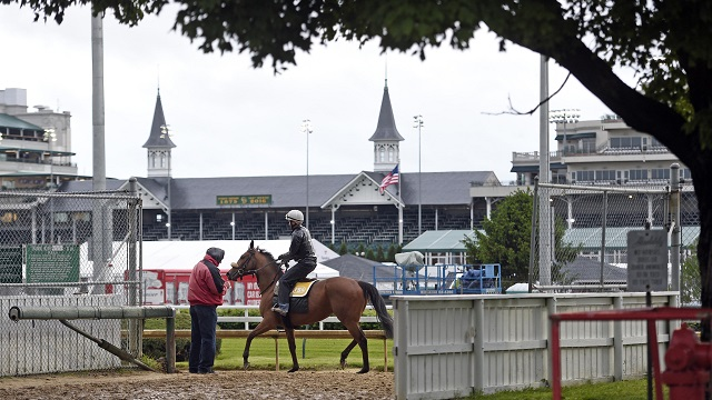 Churchill Downs before the 2016 Kentucky Derby