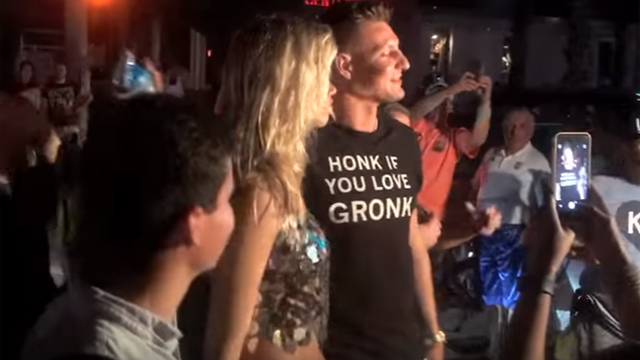 New England Patriots tight end Rob Gronkowski and model Hailey Clauson