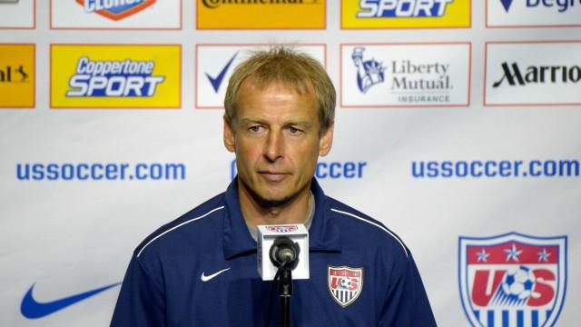 U.S. men's soccer coach Jurgen Klinsmann