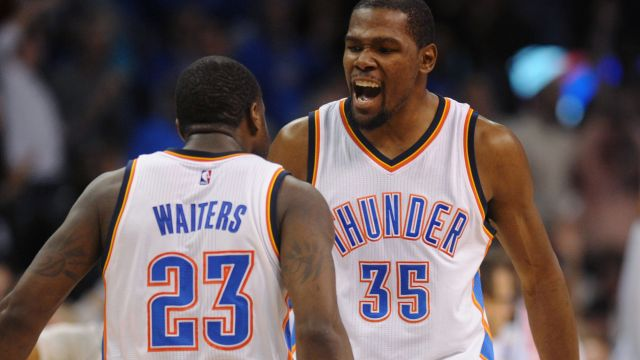 Kevin Durant tells Dion Waiters to pass him the motherfucking ball in Game 2 of the Western Conference Finals against the Golden State Warriors