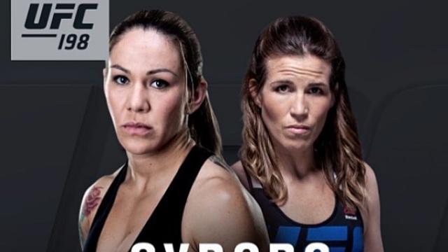 "UFC 198's Cris ""Cyborg"" Justino, Leslie Smith"