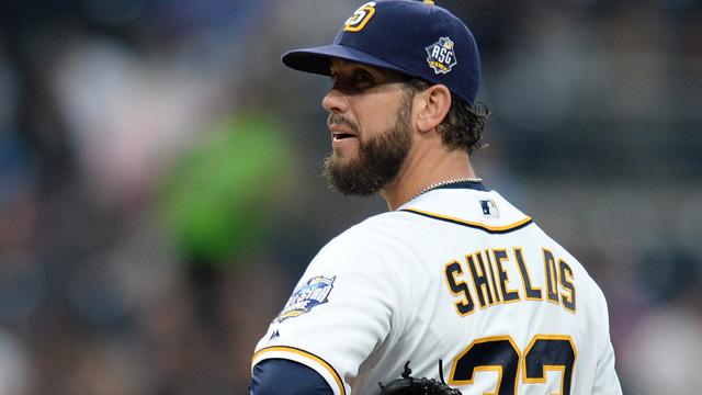 San Diego Padres starting pitcher James Shields