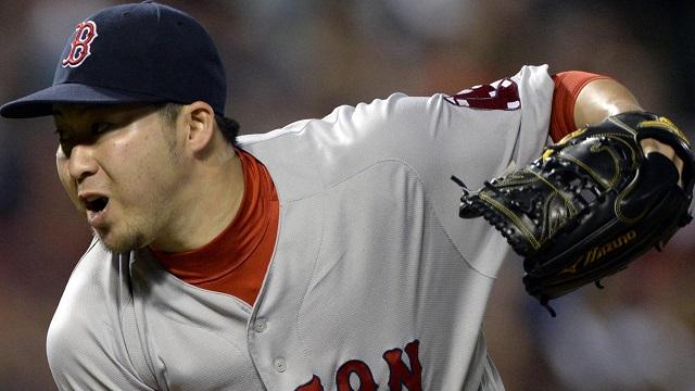 Boston Red Sox relief pitcher Junichi Tazawa