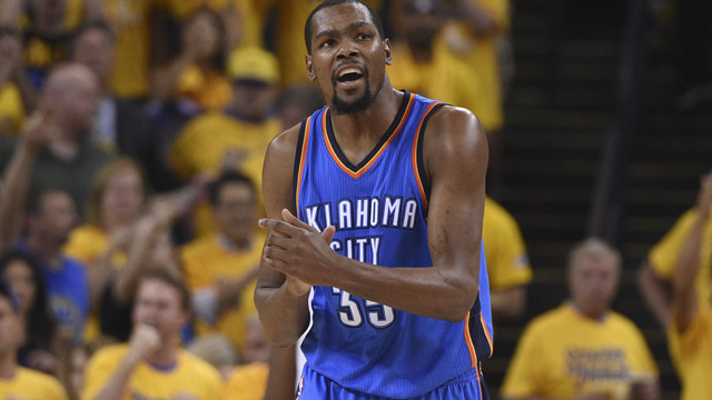 Thunder forward Kevin Durant