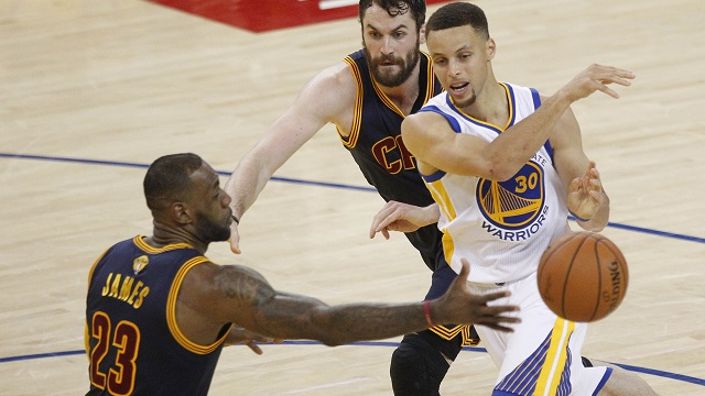 Steph Curry, LeBron james, Kevin Love