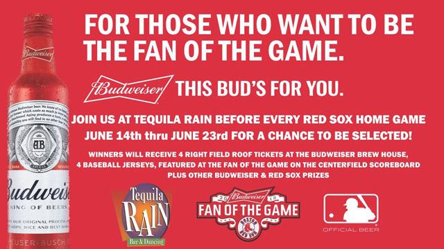 Tequila Rain Budweiser Fan of the Game