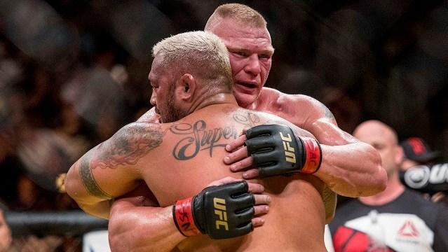 Brock Lesnar, Mark Hunt at UFC 200