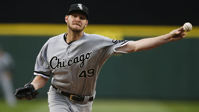 Chicago White Sox pitcher Chris Sale