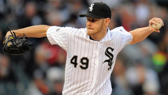 Chicago White Sox pitcher Chris Sale