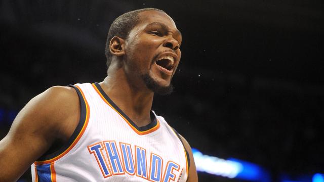 Oklahoma City Thunder forward Kevin Durant