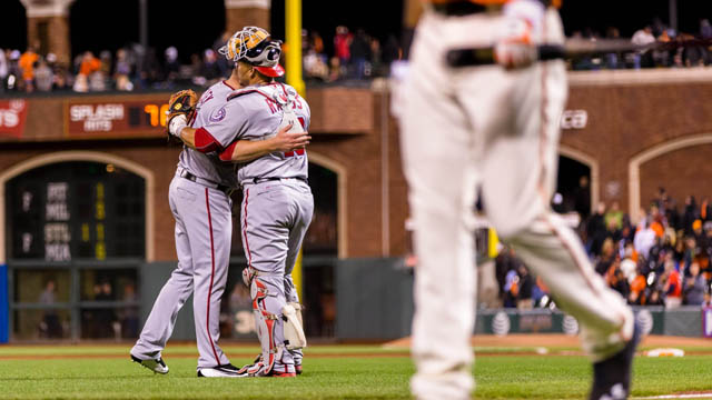 Nationals celebrate a win over Giants