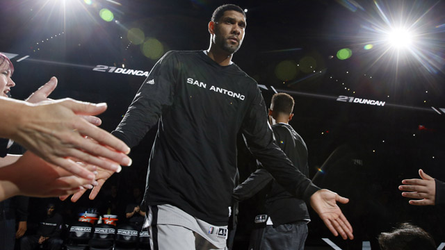 Spurs forward Tim Duncan