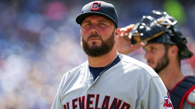 Cleveland Indians relief pitcher Tommy Hunter