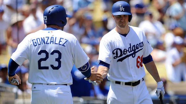 Dodgers first baseman Adrian Gonzalez