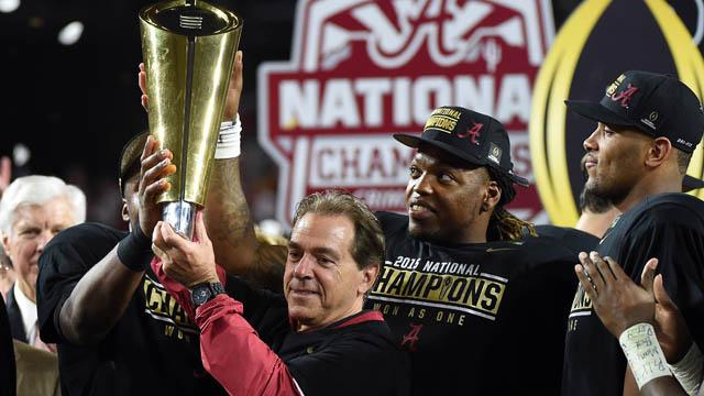 Alabama Crimson Tide head coach Nick Saban