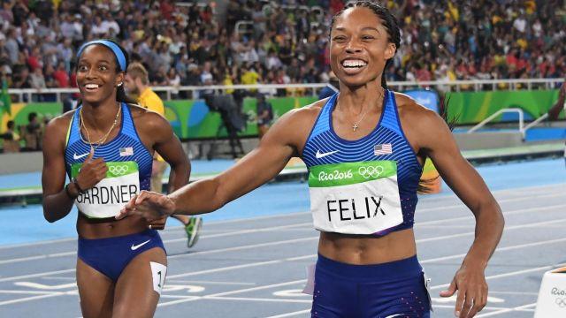 Team USA sprinter Allyson Felix