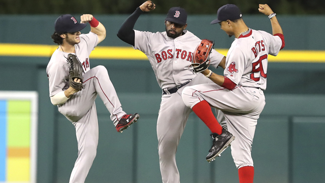 Andrew Benintendi and the Red Sox outfield