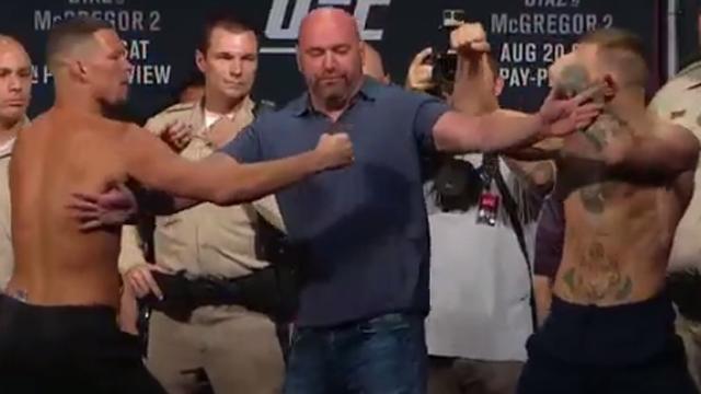 UFC fighters Conor McGregor, Nate Diaz