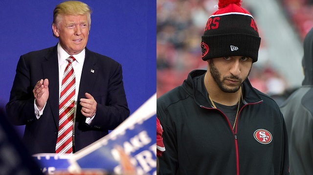 Donald Trump and Colin Kaepernick
