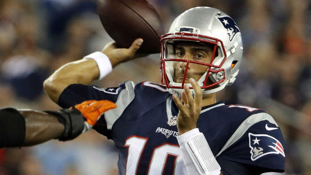 New England Patriots quarterback Jimmy Garoppolo