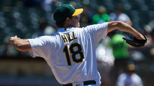Oakland Athletics pitcher Rich Hill