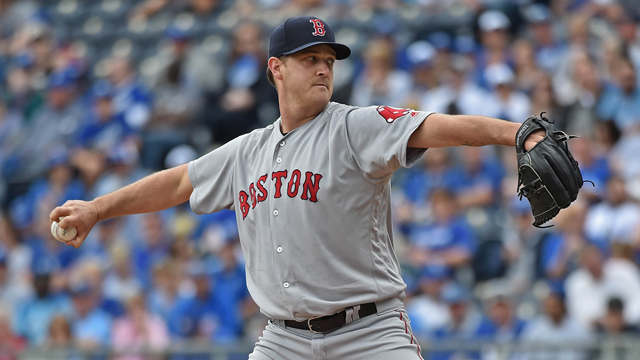 Boston Red Sox pitcher Steven Wright