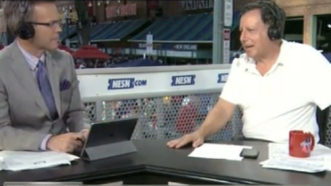 Red Sox chairman Tom Werner and NESN's Tom Caron
