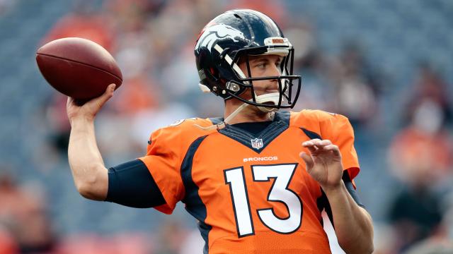 Denver Broncos quarterback Trevor Siemian