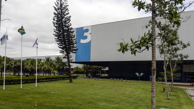 A general view of Riocentro Pavillion 3